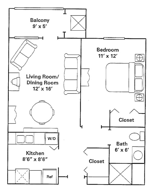 1bed1bathapartmentro