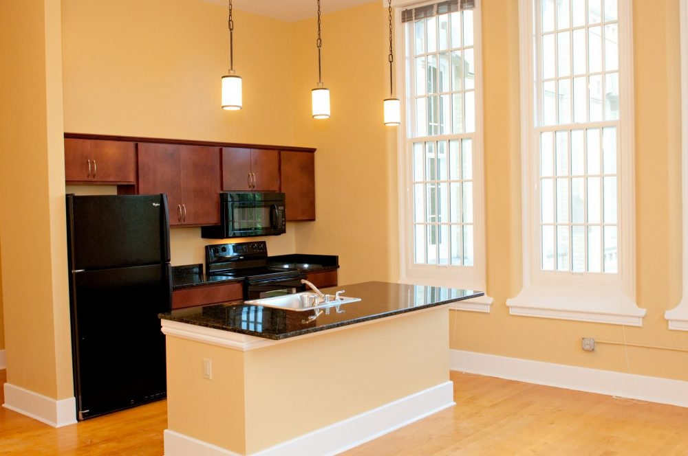 630 Lofts Traverse City Michigan Low Income Housing Apartments Kitchen Island Large Windows