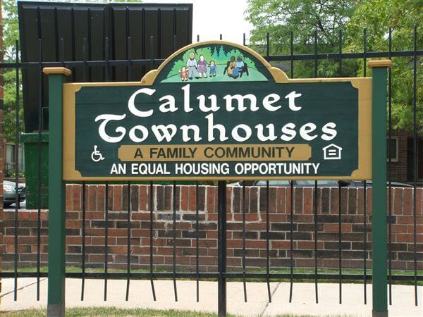 Calument Townhomes Detroit MI Community Sign