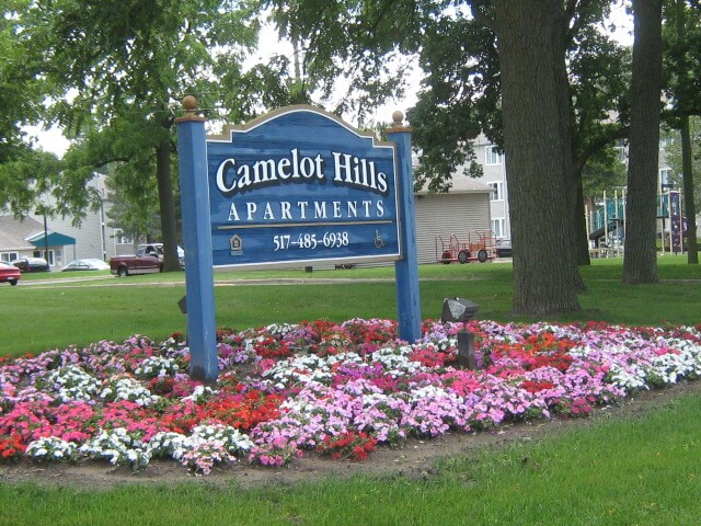 Camelot Hills Lansing MI Sign