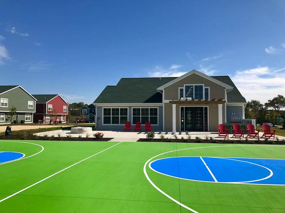 Campus Creek Cottages and Townhomes Big Rapids MI Apartments Basketball Court
